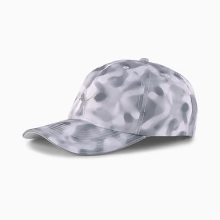 Quick Dry Women's Running Cap, Puma White-Gray Violet-AOP, small-IND