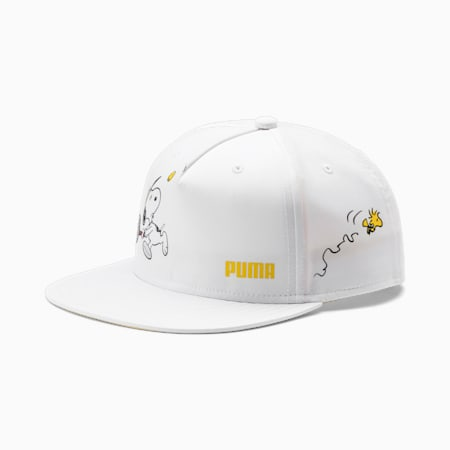 PUMA x PEANUTS Flat Brim Youth Cap, Puma White, small-SEA