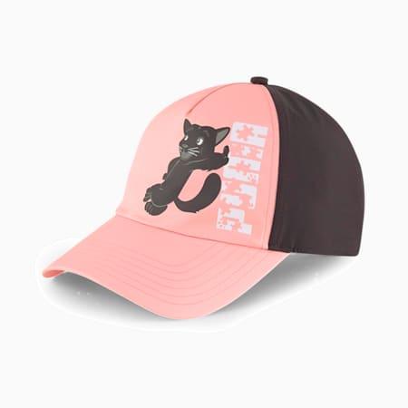 キッズ アニマルズ BB キャップ, Apricot Blush-Black-Panther, small-JPN