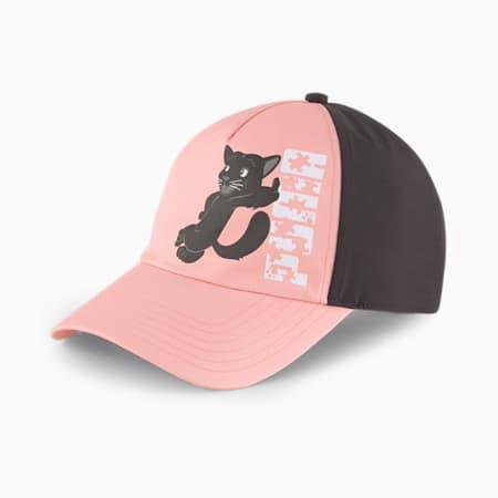 Animal Youth Baseball Cap, Apricot Blush-Black-Panther, small