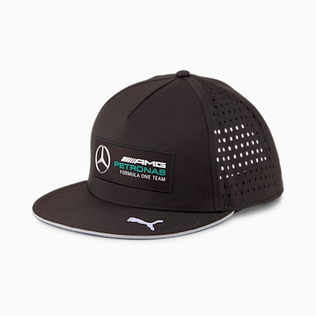 Mercedes F1 Flat Brim Cap, Puma Black, small