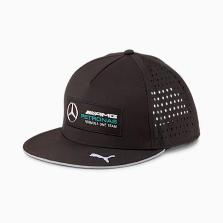 Mercedes F1 Flat Brim Cap, Puma Black, small-GBR