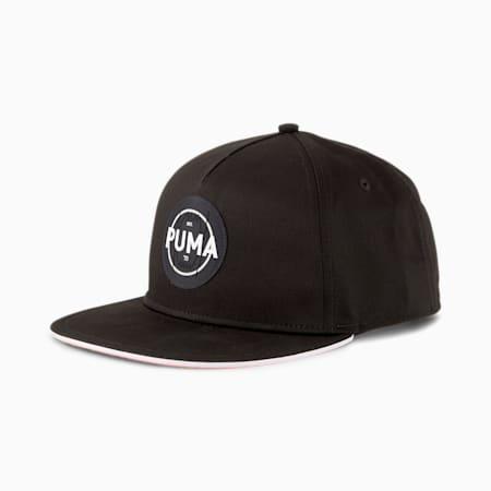 Basketball Flat Brim Logo Cap, Puma Black, small