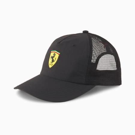 Scuderia Ferrari Trucker Cap, Puma Black, small-IND