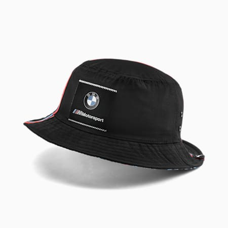 BMW M Motorsport Bucket Hat, Puma Black, small