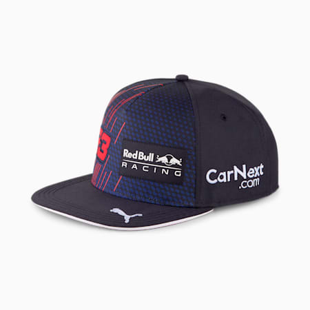 Casquette à bord plat Red Bull Racing Replica Verstappen, NIGHT SKY-Chinese Red, small