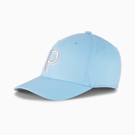 P Adjustable Women's Golf Cap, Placid Blue-High Rise, small-SEA