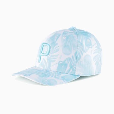 ゴルフ ビーチ P 110 スナップバック キャップ, Bright White-Blue Glow, small-JPN
