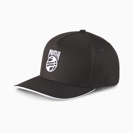 Basketball Low Curve Cap, Puma Black, small