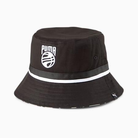 Basketball Bucket Hat, Puma Black, small-GBR