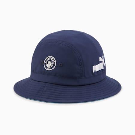 Man City Football Bucket Hat, Peacoat-Puma White, small-GBR