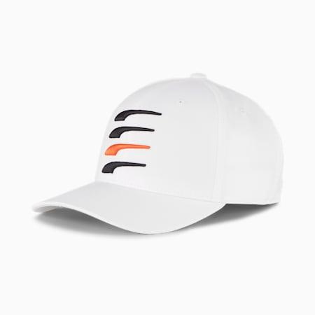 무빙데이 X 스냅백 캡/Moving Day X Snapback Cap, Bright White-Puma Black-Vibrant Orange, small-KOR