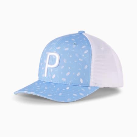 스낵 쉑 P 100 트럭커 스냅백 캡/Snack Shack P 110 Trucker Snapback Cap, Placid Blue-Bright White, small-KOR