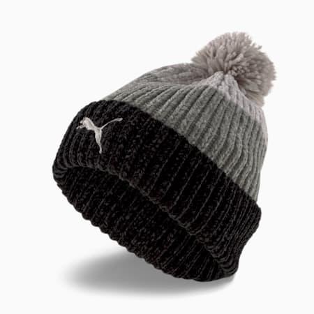 Pom Pom Beanie Women's Hat, Puma Black-Gray, small-GBR