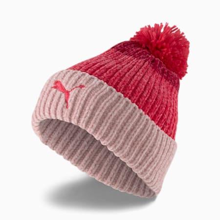 Pom Pom Beanie Damenmütze, Lotus-Paradise Pink-Persian Red, small