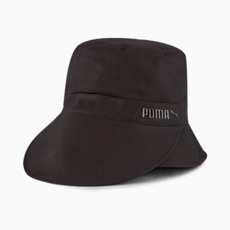 Bucket Visor Women's Hat, Puma Black, small-SEA