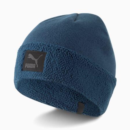 Bonnet à revers en sherpa Classics, Bleu intense, petit