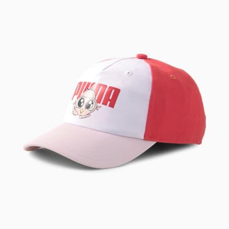 Gorra de béisbol Lil PUMA Pinch Panel para niño, Lotus-Puma White-Paradise Pink, pequeño