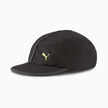 Running Unisex Flat Brim Cap, Puma Black, small-IND