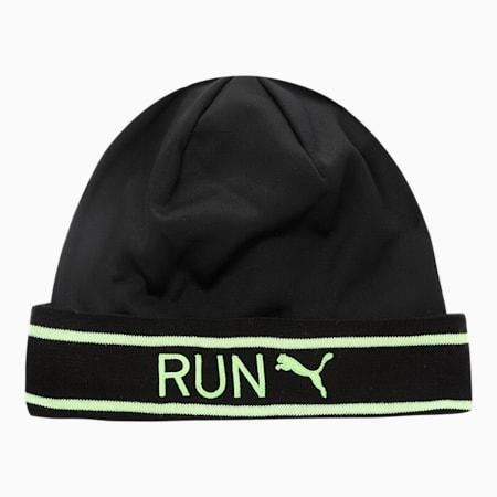 Classic Running Cuff Unisex Beanie, Puma Black-Green Glare, small-IND