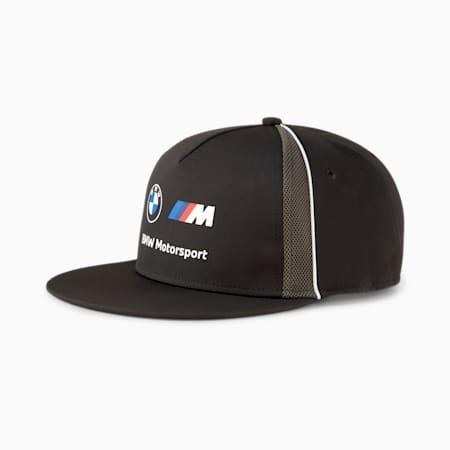 BMW M Motorsport Flat Brim Cap, Puma Black, small