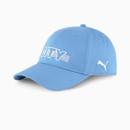 Manchester City FtblCore Unisex Fan Cap, Team Light Blue-Puma White, small-IND
