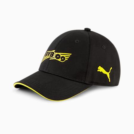 Gorra de Fútbol BVB FtblCore, Puma Black-Cyber Yellow, pequeño