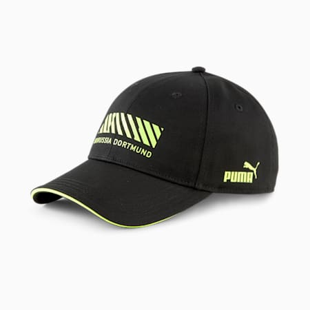 Cappellino da baseball BVB FtblCulture Football, Puma Black-Safety Yellow, small