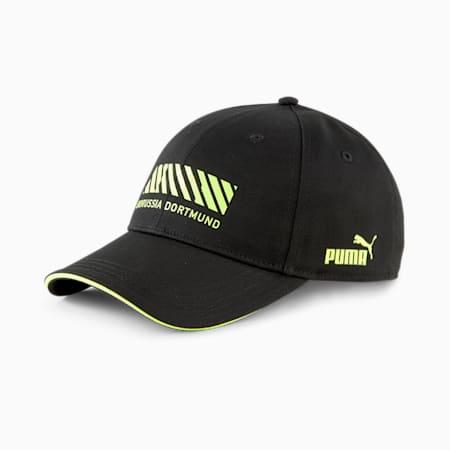 BVB FtblCulture Football Baseball Cap, Puma Black-Safety Yellow, small-GBR