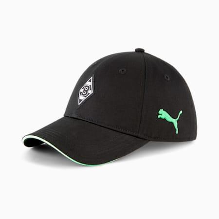 Gorra de fútbol BMG Team, Puma Black-Elektro Green, small