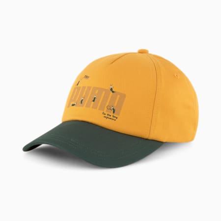 PUMA x TINYCOTTONS Cap, Sunflower-Green Gables, pequeño