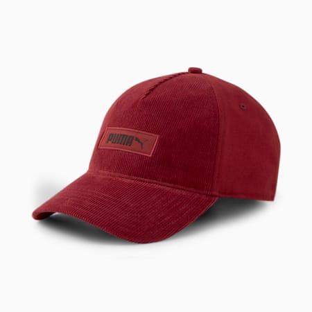 Casquette avec logo-étiquette Archive, Rouge intense, petit