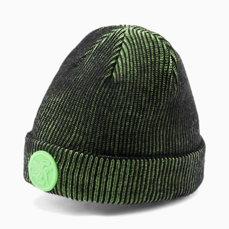 Gorro de lana PUMA x SANTA CRUZ, Puma Black-Green Flash, pequeño