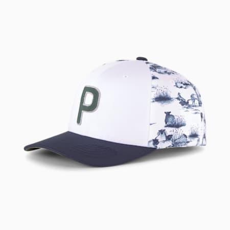모우어 P 110 스냅백/Mower P 110 Snapback Cap, Bright White-Thyme, small-KOR