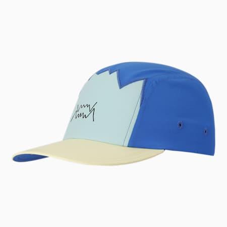 Basketball 5 Paneled Unisex Cap, Bluemazing, small-IND