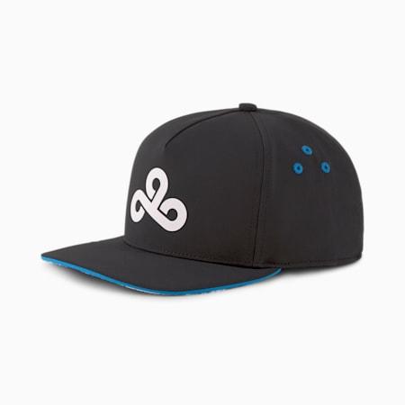 Gorra de béisbol PUMA x CLOUD9 Esports para hombre, Puma Black-Bleu Azur, pequeño