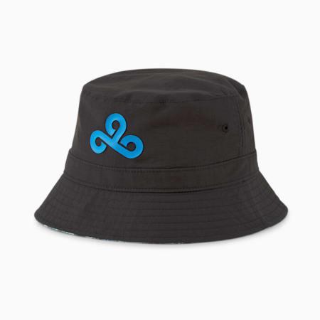 Sombrero de pescador reversible PUMA x CLOUD9 Esports, Puma Black-Bleu Azur, pequeño