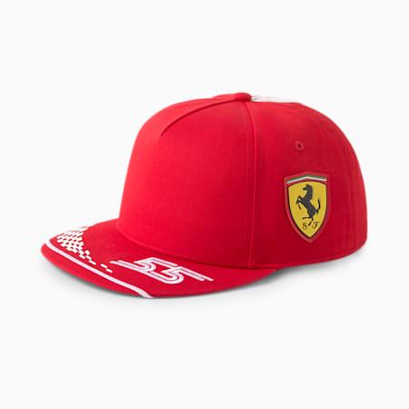 Scuderia Ferrari Replica Carlos Sainz pet met laag gebogen klep, Rosso Corsa, small