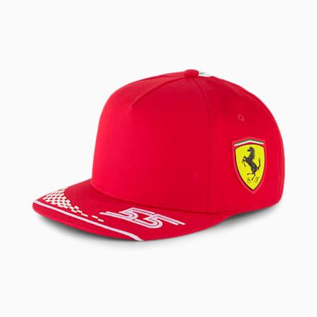 Replica de la gorraScuderia Ferrari Carlos Sainz para niños, Rosso Corsa, pequeño