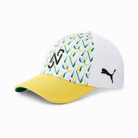 Neymar Jr. Unisex Baseball Cap, Dandelion-Puma White-Amazon Green-Puma Black, small-IND