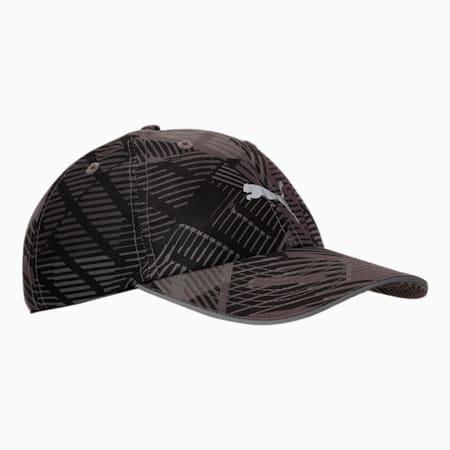 PUMA Unisex Running Cap, Puma Black-AOP, small-IND
