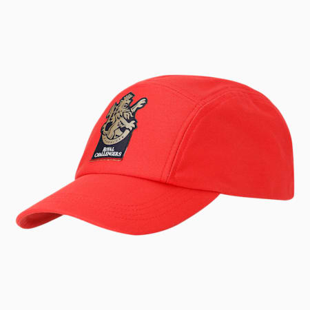 Royal Challengers Bangalore Men's Fanwear  Cap, Flame Scarlet, small-IND