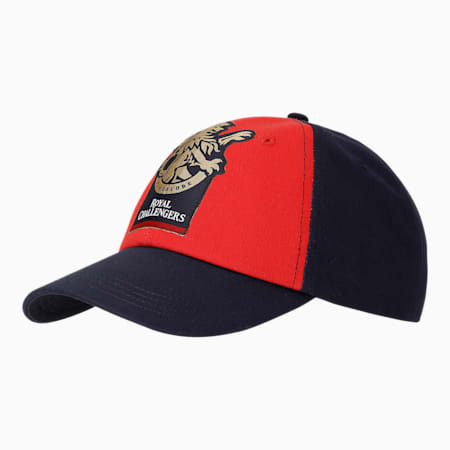 Royal Challengers Bangalore Men's Fanwear  Stylized Cap, Flame Scarlet-Navy Blazer, small-IND