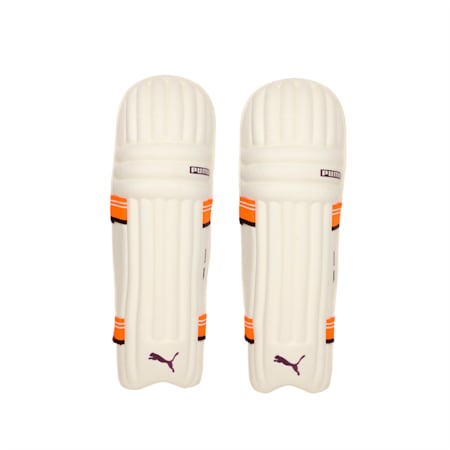 EVO 7 MD Batting pad, Orange-Purple-White, small-IND