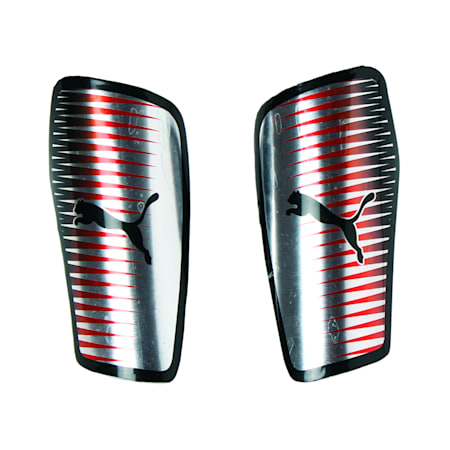 Football Chrome Guards, Silver-Red Blast-Puma Black, small-IND