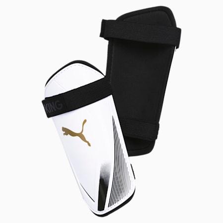 Protège-tibias King ES 2, Puma White-Gold-Puma Black, small