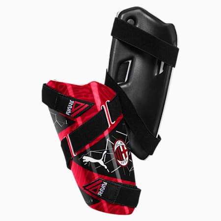 AC Milan FUTURE 5-skinnebensbeskyttere, Puma Black-Tango Red, small