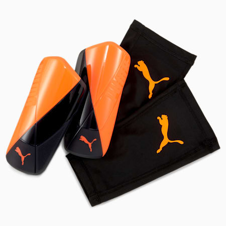 ftblNXT St Shin Guards, Shocking Orange-Black-White, small