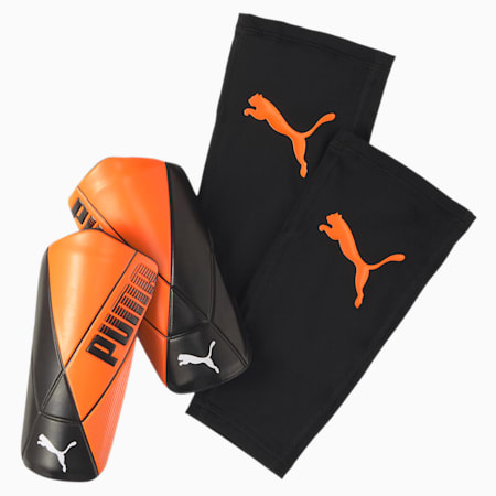 ftblNXT ULTIMATE Flex scheenbeschermers, Shocking Orange-Black-White, small