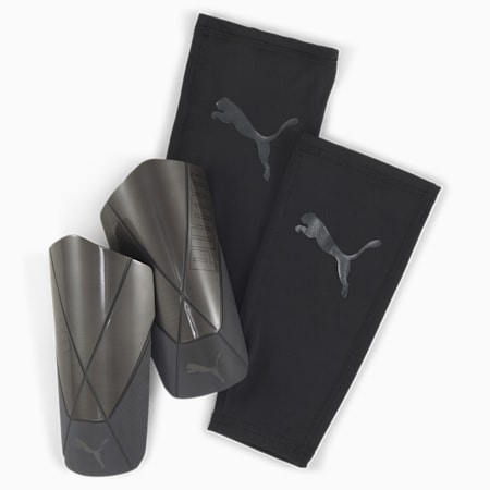 ftblNXT PRO Flex Sleeve Shin Guards, Puma Black-Asphalt, small